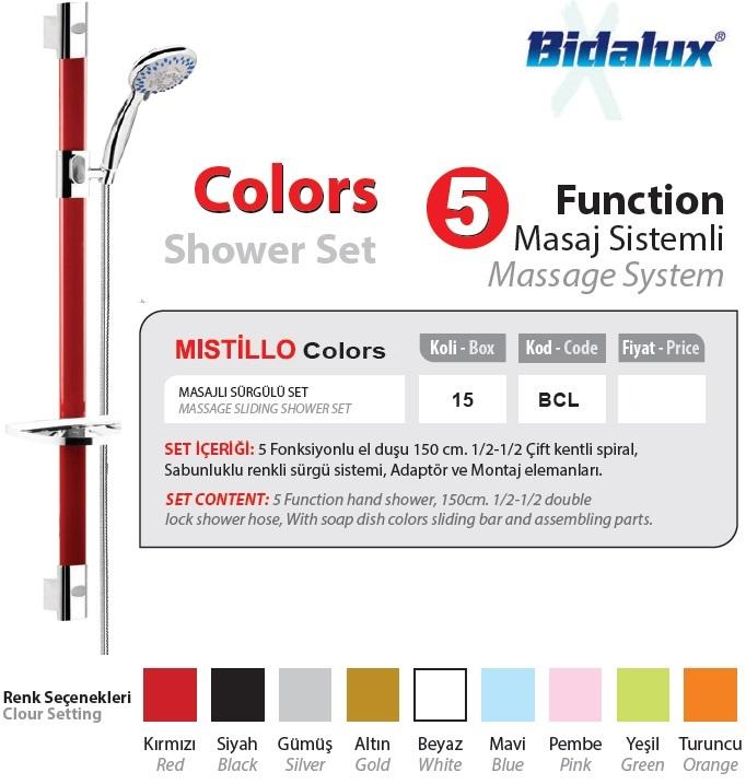 Bidalux Color Sürgülü Set-BCL